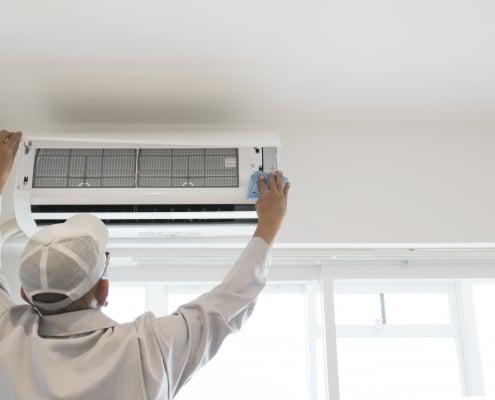 Fonctionnement d'une climatisation avec réglages